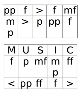 Dynamics Bingo