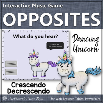 Dynamics Crescendo Decrescendo Interactive Music Game {Dancing Unicorn}