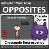 Fall Music Game ~ Dynamics Crescendo Decrescendo Interactive Music Game Dracula