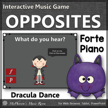 Fall Music Game ~ Dynamics Forte Piano Interactive Music Game {Dracula}
