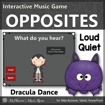 Fall Music Game ~ Dynamics Loud Quiet Interactive Music Game {Dracula}