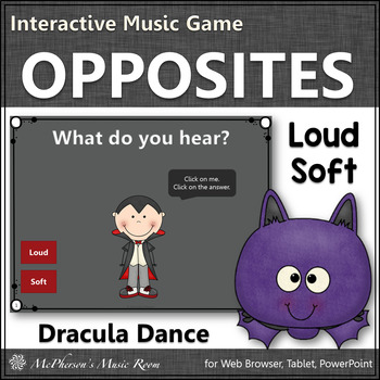 Fall Music Game ~ Dynamics Loud Soft Interactive Music Game {Dracula}