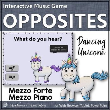 Dynamics Mezzo Forte Mezzo Piano Interactive Music Game {Dancing Unicorn}
