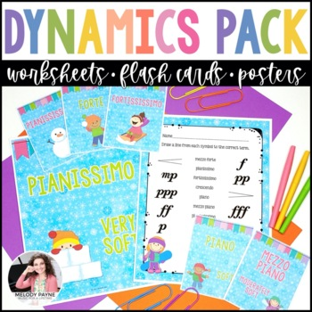 Dynamics Worksheets, Posters, & Flashcards - Winter Theme