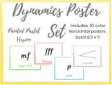 Music Dynamics Poster Set: Watercolor Theme