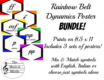 Dynamics Poster Set: Rainbow Belt BUNDLE