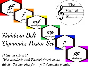 Dynamics Poster Set: Rainbow Belt (Italian)