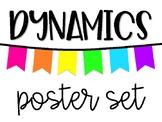Dynamics Poster Set - White & Neon