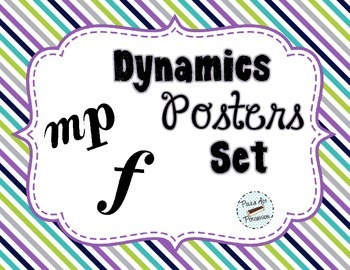 Dynamics Poster Set - Woodland Critters Theme