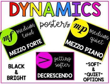 Dynamics Posters-Black and Bright