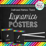 Dynamics Posters: Chalkboard Rainbow Theme