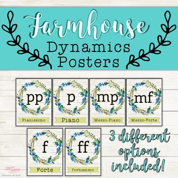 Dynamics Posters - Farmhouse Theme