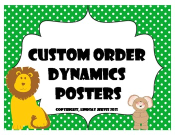 Dynamics Posters - Polka Dots {Custom Order 1}