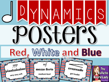 Dynamics Posters – Red White and Blue