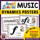 Music Room Decor: Dynamics Posters Set 1