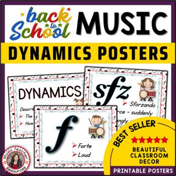 Music Classroom Decor Set: Dynamics Posters Set 1