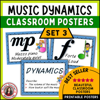 Music Posters: Music Decor: Dynamics Posters Set 3