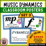 Music Classroom Decor Kit: Dynamics Music Posters Set 3: Music Vocabulary