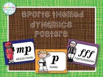Dynamics Posters (Sports Theme Decor Set)