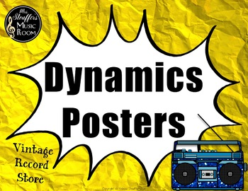 Dynamics Posters  {Vintage Record Store} Rainbow Glitter