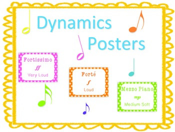 Dynamics Posters for Music Classroom Decor or Bulletin Board