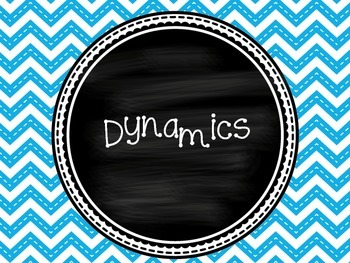 Dynamics Posters for the Music Classroom