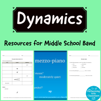 Dynamics Resources for Middle School Band