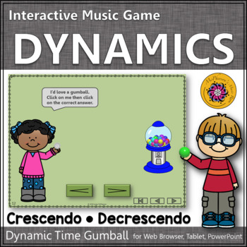 Dynamics Time with Crescendo and Decrescendo Interactive Music Game (gumball)