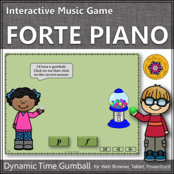 Dynamics Time with Forte and Piano Interactive Music Game (gumball)