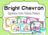 Dynamic Voice Volume Posters- Bright Chevron Background