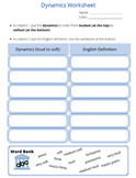 Dynamics Worksheet