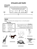 Dynamics and Tempo Worksheet