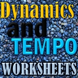 Dynamics and Tempo Worksheets - Elementary Music - Matching Assessment