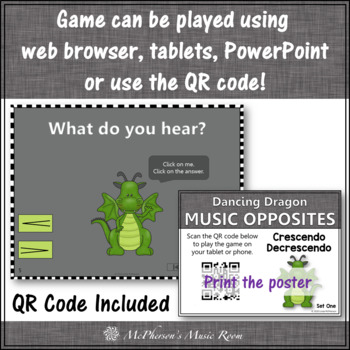 Dynamics: Crescendo/Decrescendo ~ Interactive Music Game + Assessment {dragon}