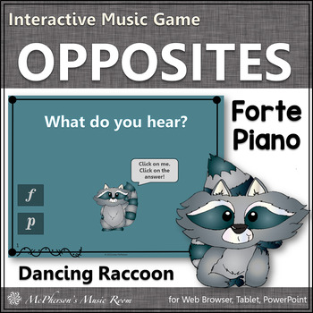Dynamics {forte and piano} Interactive Music Game (raccoon)