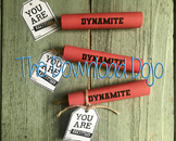 Dynamite Candy Wrapper, Rolos, Fireworks, You're the Bomb, Instant Download