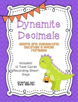 Dynamite Decimals {Adding & Subtracting Whole Numbers & Decimals}