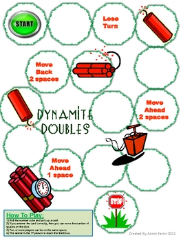 Dynamite Doubles Math Game