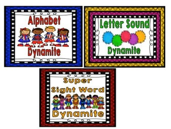 Dynamite Literacy Games Bundle - Letters, Sounds, and Sight Words