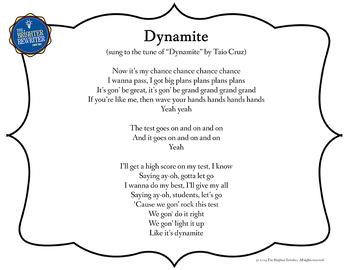 Testing Song Lyrics for Dynamite