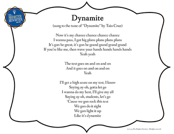 Testing Song Lyrics for Dynamite