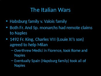 Dynastic Struggles, Period One, 16th Century European History