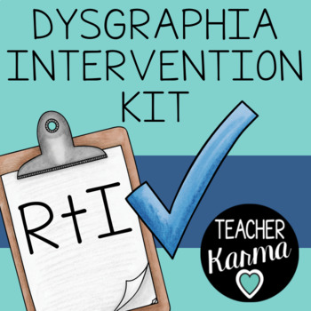 Dysgraphia Intervention Kit, RTI, Intervention, SPED, Learning Disability