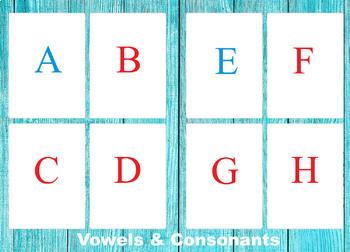Capital Print Letters, Montessori education, English alphabet, Flash cards