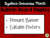 Dyslexia Awareness Month Display Editable for Bulletin Boa