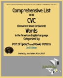Dyslexia: Complete List of Phonetic Words Packet 1&2: CVC Nouns,Adjectives,Verbs