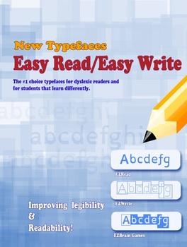 Dyslexia/Dysgraphia: Ez-Read/Ez-Write fonts