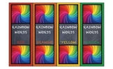 Dyslexia Font Rainbow Sight Words