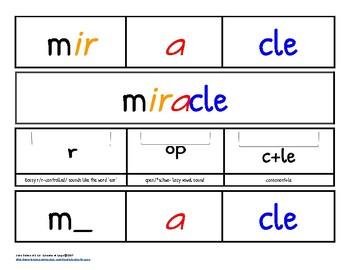 Dyslexia Friendly ~ Color Coded Syllabic Words ~ Hanukkah Edition