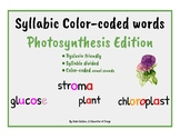 Dyslexia Friendly ~ Color-Coded Syllabic Words ~ Photosynt